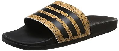 24625f5ac adidas Adilette Cf + Cork Unisex Slide Black Tan - 7 UK