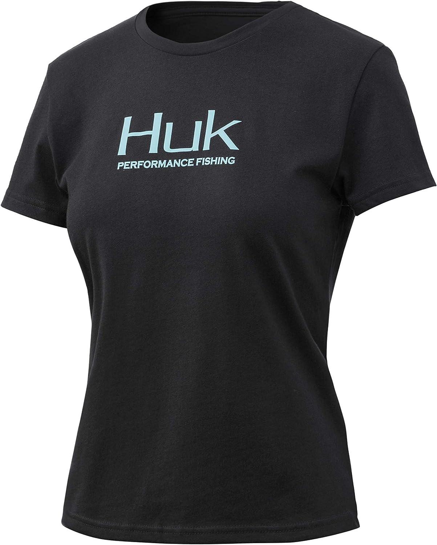 Sun Protection Short Sleeve Ladies Fishing T-Shirt with UPF 30 HUK Performance Fishing Crew
