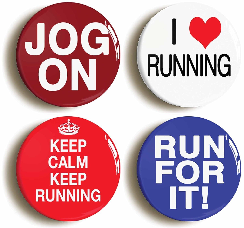 最新入荷 RunningジョギングマラソンFunnyボタンピンセット(サイズは1インチ直径)ランナージョガー B01G0WUOI4 B01G0WUOI4, 城辺町:24efa861 --- arianechie.dominiotemporario.com