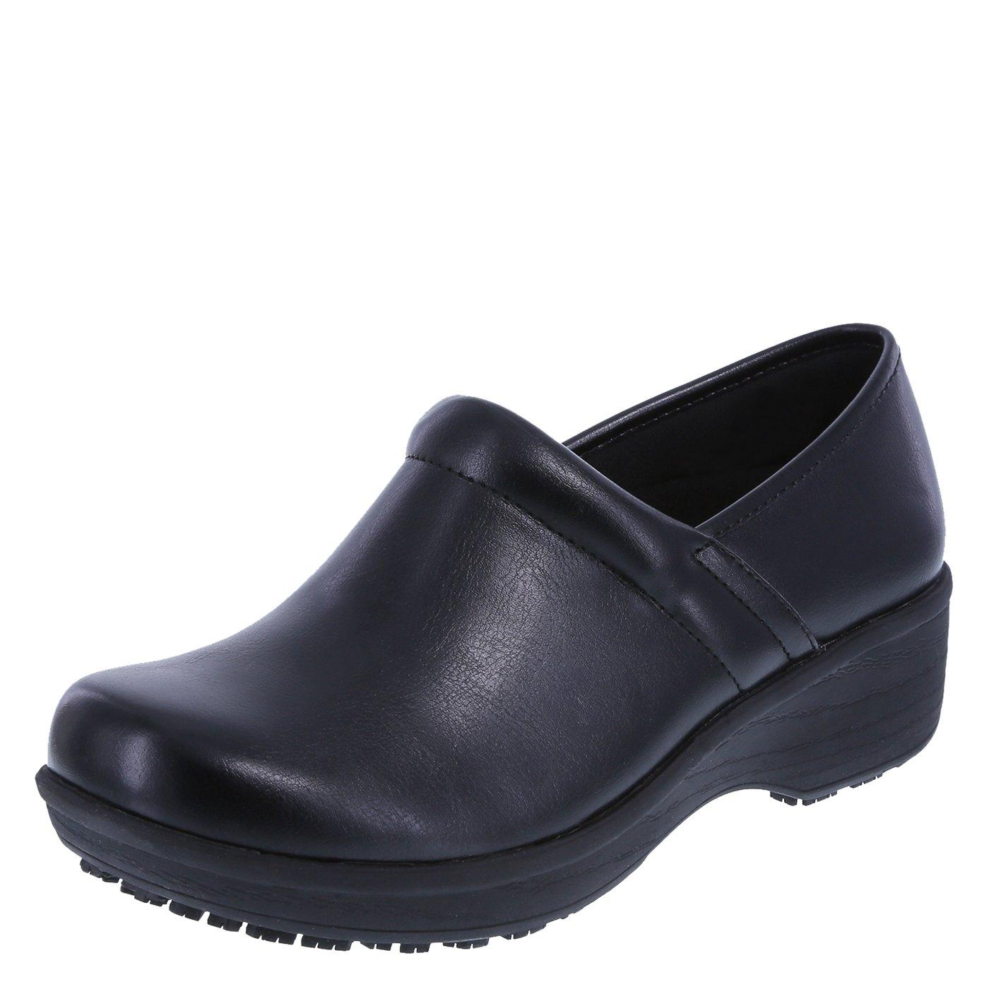 safeTstep Slip Resistant Women's Black Women's Gretchen Clog 8 Regular