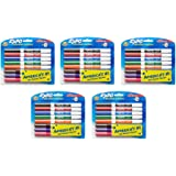 EXPO Low-Odor Dry aGmRj Erase Markers, Fine Tip, Assorted Colors, 8 Count (5 Pack)