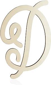 Wooden Monogram Alphabet Letters, Decorative Letter D (13 Inches)