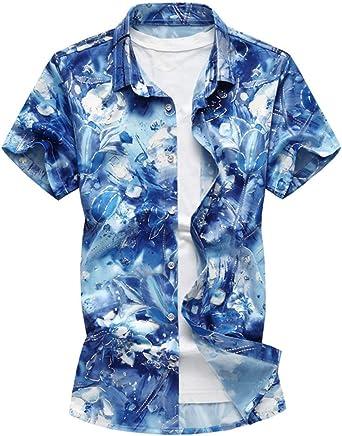 Camisa De Manga Corta Verano Casual Solapa De Modernas De De Hombre Camisas De Polo De Gran Tamaño De Moda Informal Tops De Camiseta: Amazon.es: Ropa y accesorios