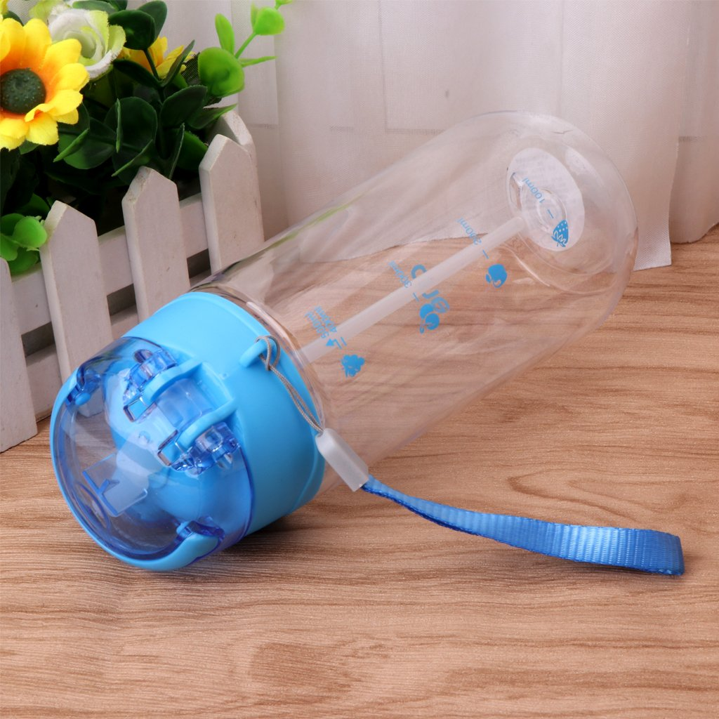 Guoyy 500 ML Baby Kinder Kinder Tragbare F/ütterung Trinkwasser Flasche Tasse Mit Stroh Blue