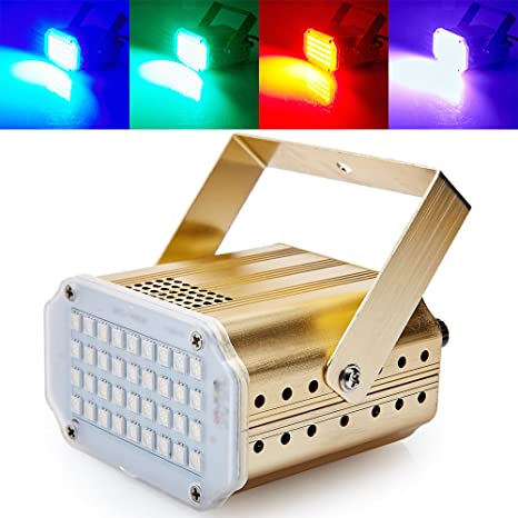 Mini Sound Control 36RGB SMD5050 LED Stroboscope Disco Party DJ Equipment Strobe  Light Home Entertainment Music