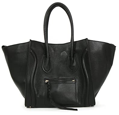 b12a551cca84 Amazon.com: Metrocity® Josephine Luggage Shoulder Bag (Black): Clothing