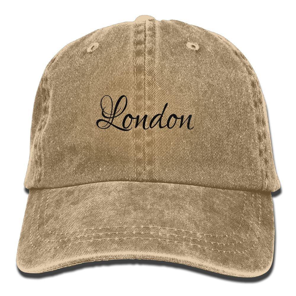 London Plain Adjustable Cowboy Cap Denim Hat for Women and Men