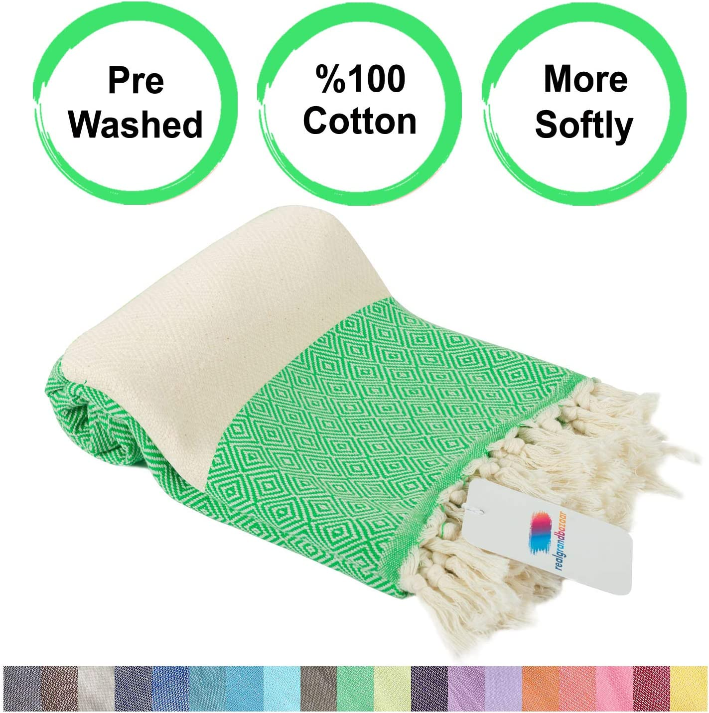 Brown Super Soft Towels Hammam realgrandbazaar Turkish Towels Beach Towel/%100 Cotton Peshtemal Pre Washed Softly 39 x 69 Beach Towels Oversized Large Bath Towels Pestemal