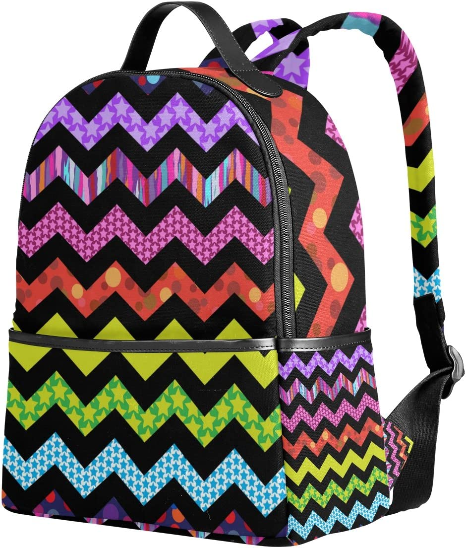 Cooper girl Colorful Chevron Rucksack Classic Backpack for Women and Girls