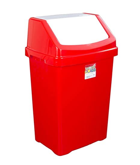 funky gadgets 50l swing bin color coded bin waste recycle rubbish
