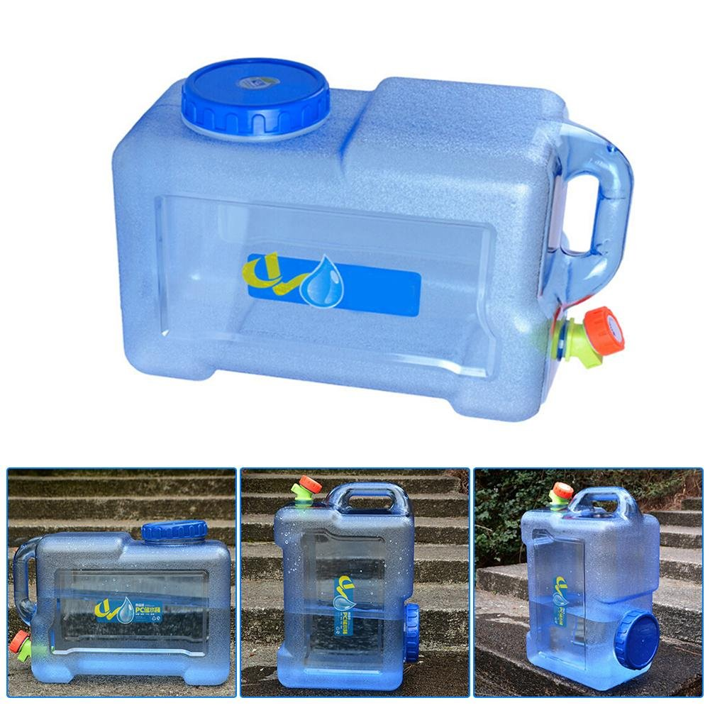 ECC decaden 12L Acqua Tanica con Rubinetto PC Addensato con Rubinetto Auto-Guida Car Portable Water Container con Rubinetto Adatto per Campeggio//Barbecue