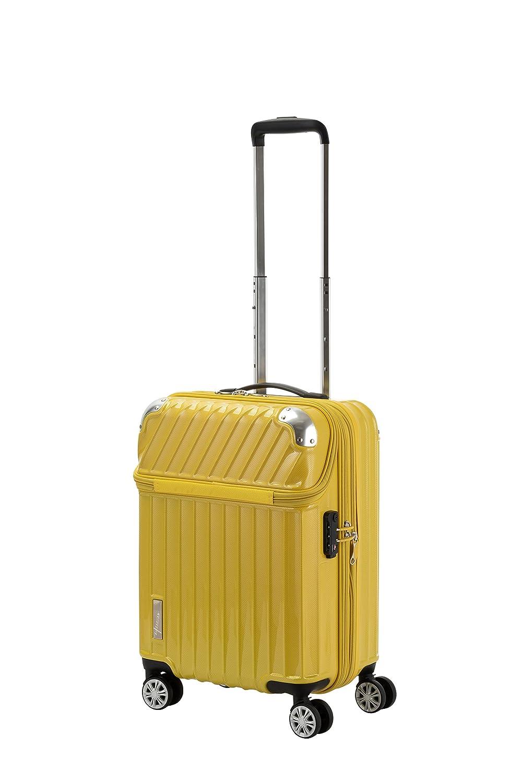 トラベリスト TRAVELIST トップオープン スーツケース 35L 機内持ち込み可 Sサイズ B07FVX4GYN イエローカーボン イエローカーボン