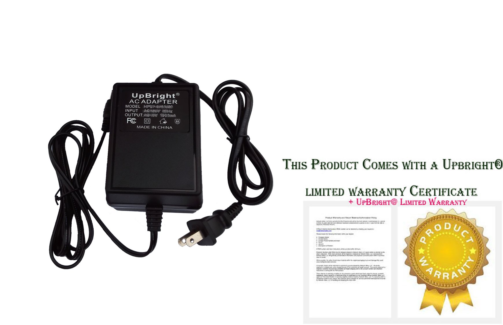 UpBright AC Adapter For Tectrix Fitness Equipment Personal Stair Climber Part # 13010 13013 326-4010-001B3 9347RB Ault Inc 10 VAC 40 VA 10VAC 40VA 10V - 12V Plug-In Class 2 Transformer Power Supply by UPBRIGHT (Image #1)