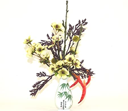 Oriental Decor Silk Flower Arrangement Unique Floral Home Decor