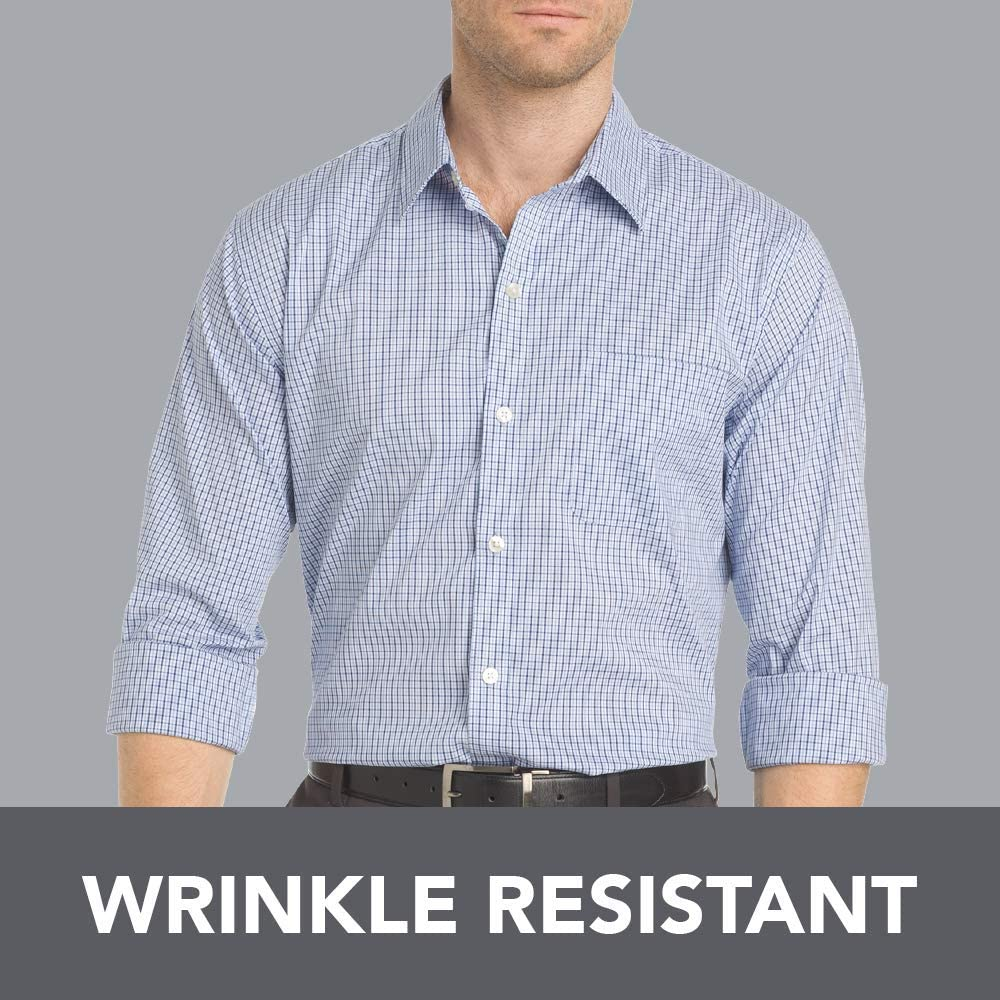 Van Heusen Mens Wrinkle Free Twill Long Sleeve Button Down Shirt