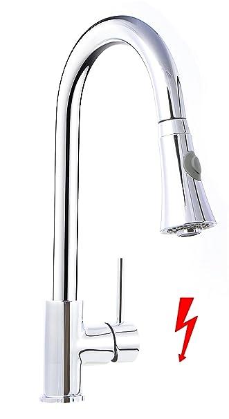niederdruck küche armatur herausziehbar geschirrbrause ... - Wasserhahn Küche Niederdruck