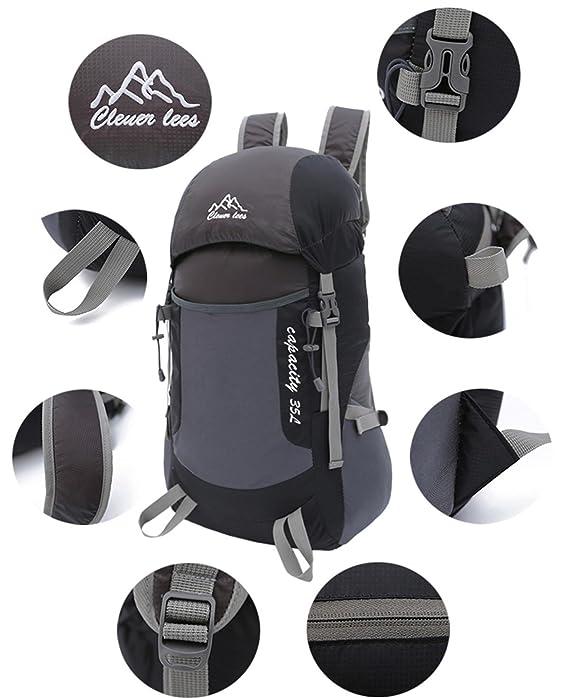 H48 x W27x T20CM Bolsas de agua Mochila de montañismo parejas estilo ligero portátil plegables deportes al aire libre Pack Racksack piel bolsa de viaje montañismo caminar senderismo camping 5 colores