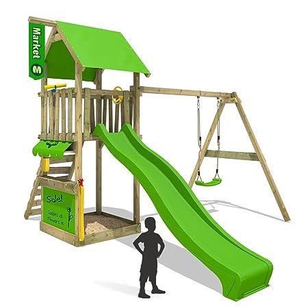 FATMOOSE Climbing frame MagicMarket Master XXL Wooden play tower ...