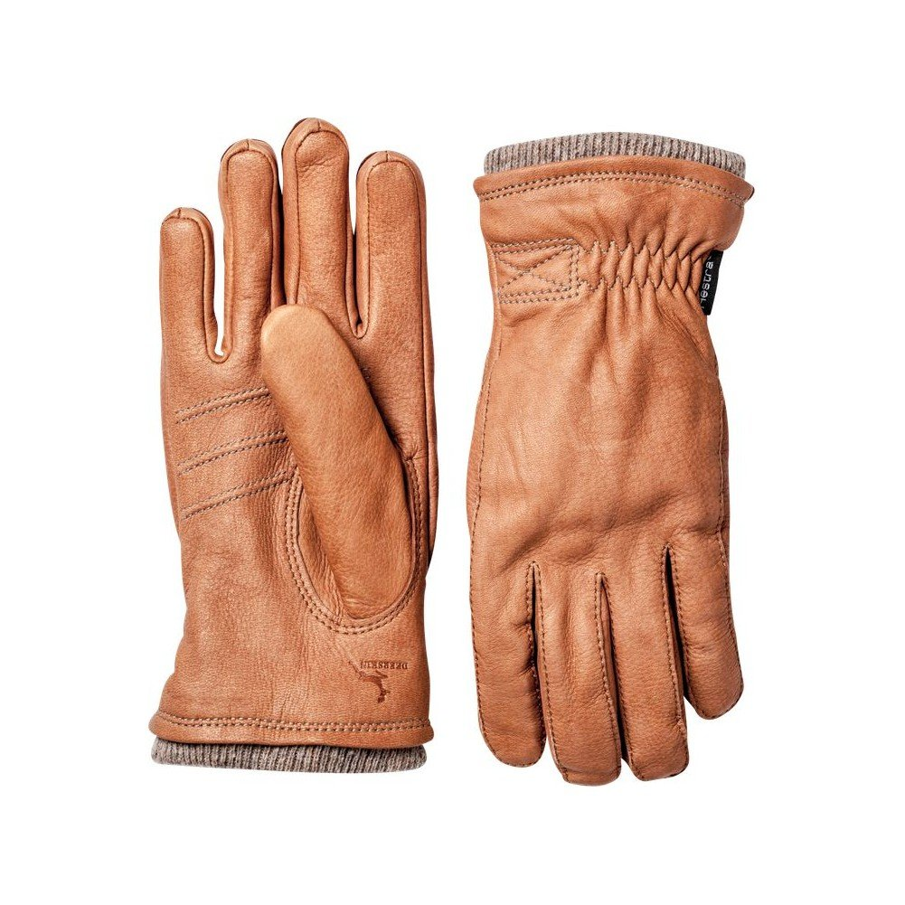 Hestra Deerskin Swisswool Rib Cuff Leather Driving Glove,Cork,11