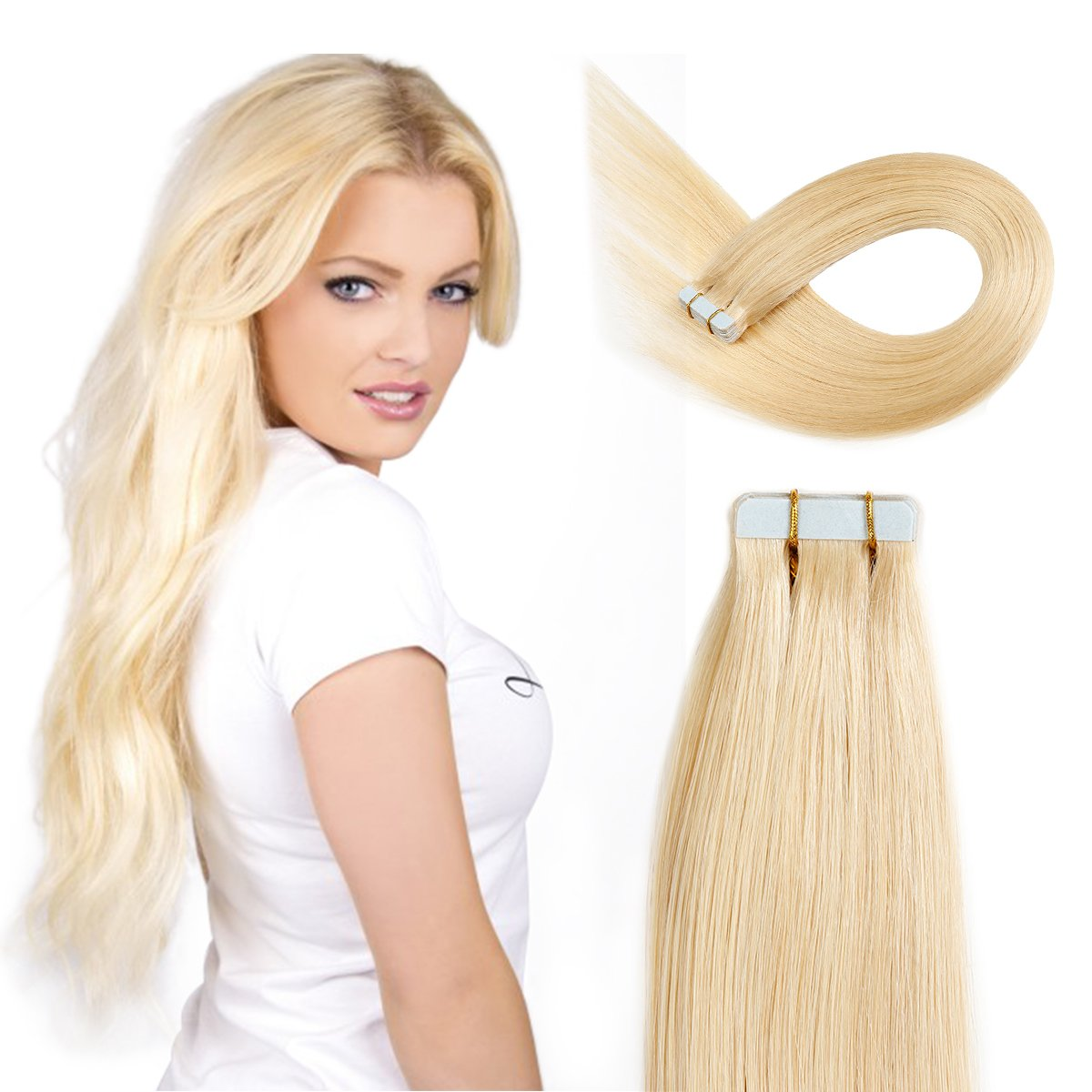 Amazon Tape In Hair Extensions Human Hair 20 Inch 50gpack