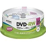 TDK 録画用DVD-RW デジタル放送録画対応(CPRM) 1-2倍速 インクジェットプリンタ対応ホワイト・ディスク 20枚スピンドル DRW120DPA20PUD