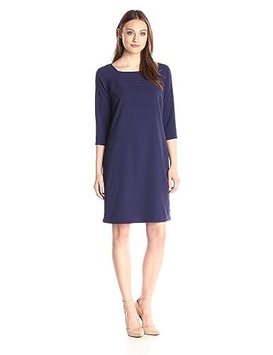 Lark & Ro Women's 3/4 Sleeve Smocked Dress