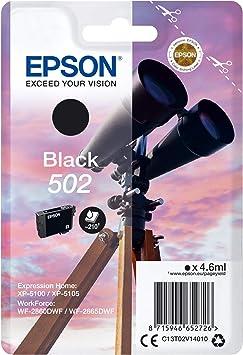 Epson Singlepack Black 502 Ink Tintenpatronen Original Pigmenttinte Schwarz Epson 1 Stück Tintenstrahldruck Bürobedarf Schreibwaren