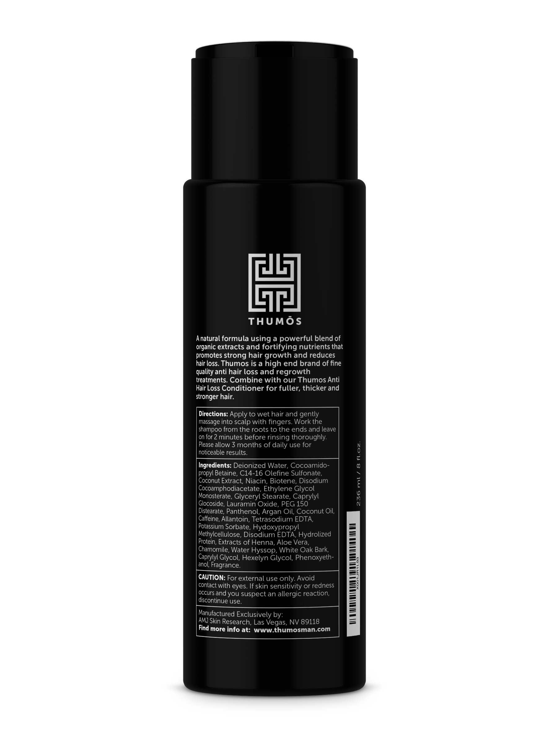 Male Hair Loss Shampoo for Men – Hair Thickening Shampoo Stimulates & Invigorates Hair Follicles to Promote Thicker, Fuller Growth by Thumos by Thumos (Image #2)