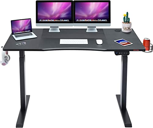 Editors' Choice: Mr IRONSTONE Electric Height Adjustable Desk 53.5″ Standing Desk Sit to Stand Home Office Computer Desk