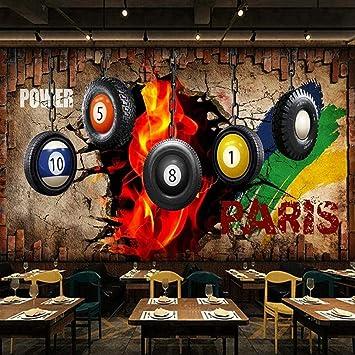 Fotomurales Decorativos Pared Vinilos Decorativos Papel Fotografico 3D Billar Graffiti Bar Ktv Restaurante Muro Papel Pintado Cuadros Habitacion Bebe Posters Mural Pared: Amazon.es: Bricolaje y herramientas