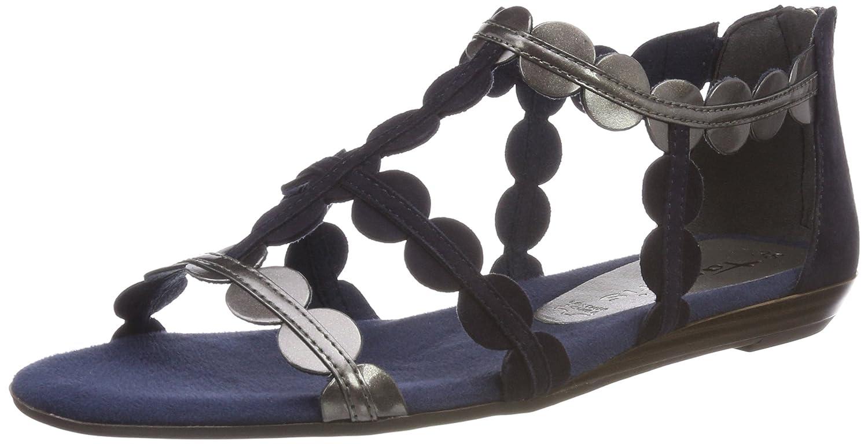 Tamaris 28156, Sandali con Cinturino alla Caviglia Donna Blu (Navy/Platinum)