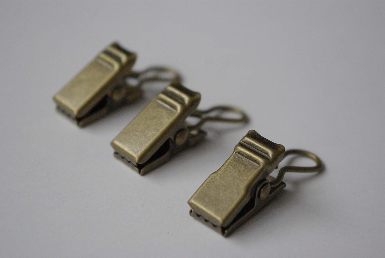 Clips De Anillo De Cortina Oro Antiguo Paquete de 20.