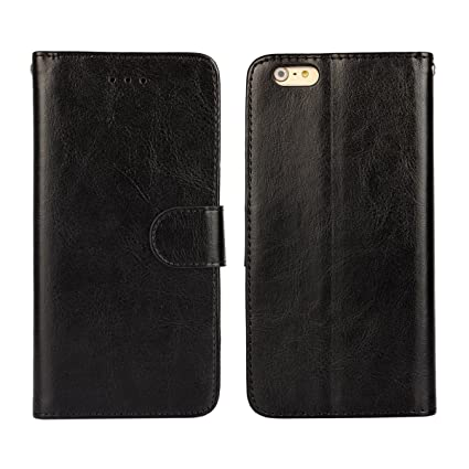 new product 84feb 122ae iCoverCase iPhone 6 / 6s Case Crazy Horse Pattern PU Leather Magnetic  Wallet TPU Silicone Soft Cover for iPhone 6/6s(4.7 inch) (Black)