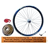 700c Road Racing Bike REAR Wheel Set Sealed Bearings Hubs +7 Speed Shimano Freewheel Bicycle Race Racer RED BLUE YELLOW GREEN Rim Brake