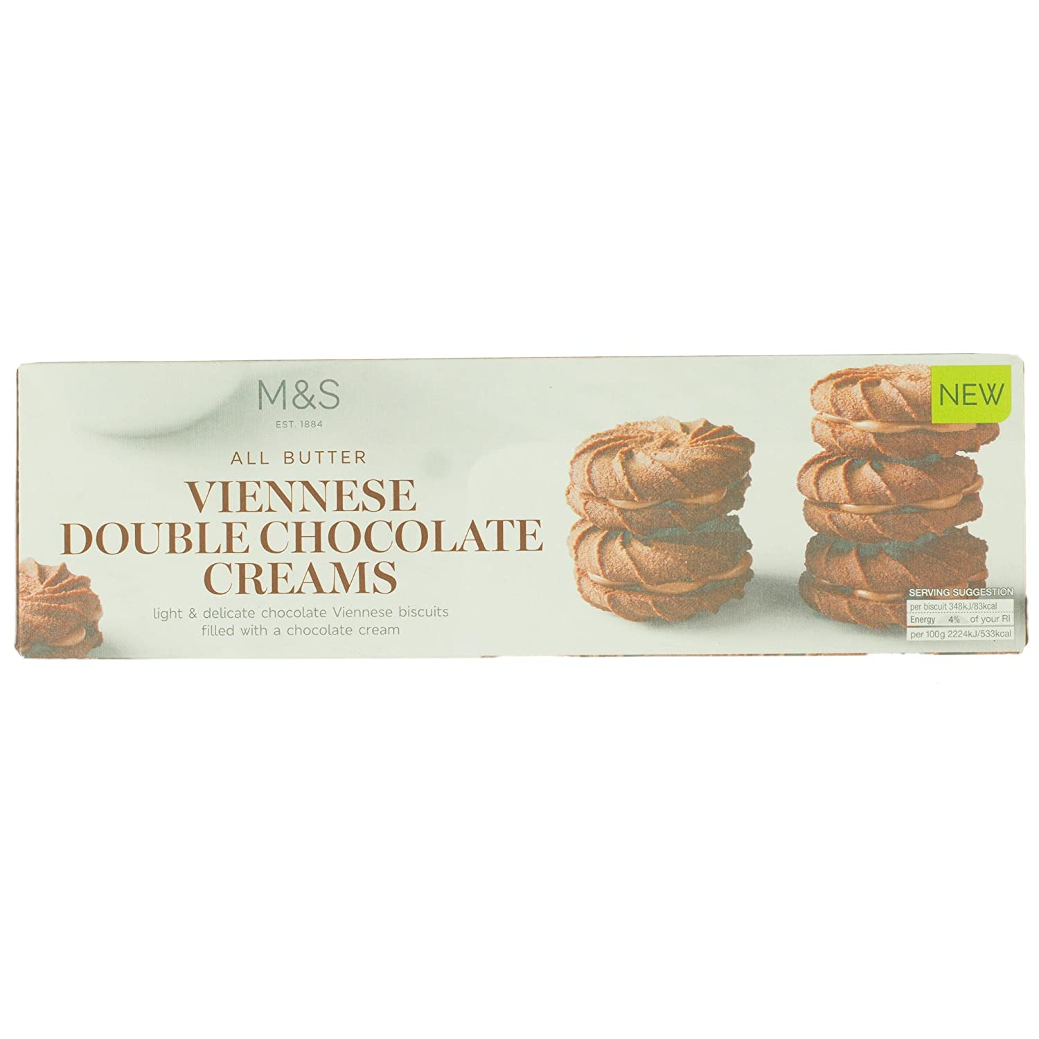 Marks & Spencer All Butter Double Chocolate Viennese Creams 125g ...