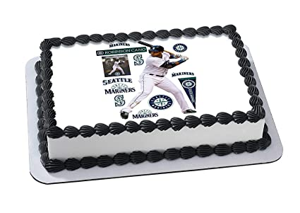 Amazon Robinson Cano Seattle Mariners Edible Image Cake Topper Icing Sugar Paper A4 Sheet Frosting Photo 1 4 Best For