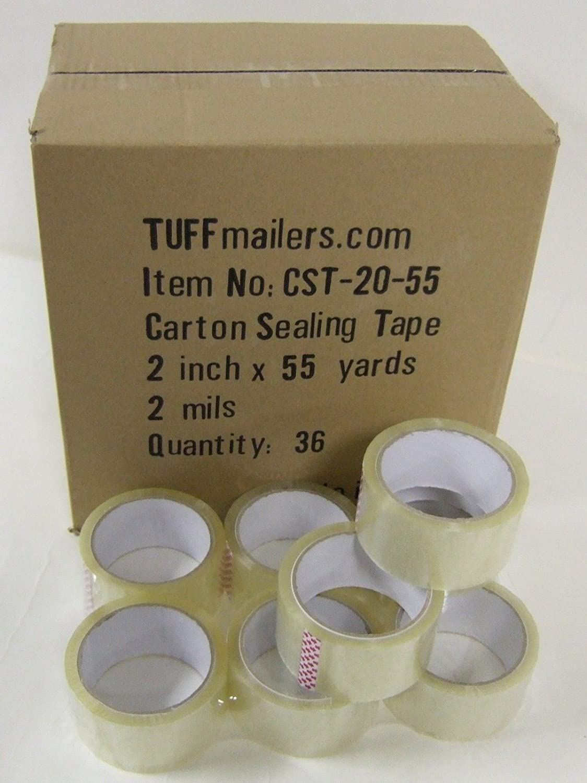 "48 rolls Carton Sealing Clear Packing//Shipping//Box Tape 2 Mil 3/"" x 55 Yards"