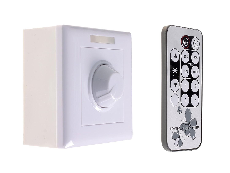 PWM Spannungs Kontrolle Dimmer Schalter IR Fernbedienung Fernbedienung Fernbedienung Zeitschaltuhr 220V 300W für Dimmbare LED Lampen Helligkeitseinstellung 5eb256