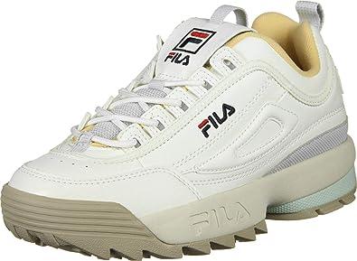 07d42b439a1 Fila - Basket Femme Disruptor CB Low WMN 1010604.02x Blanc Gris ...