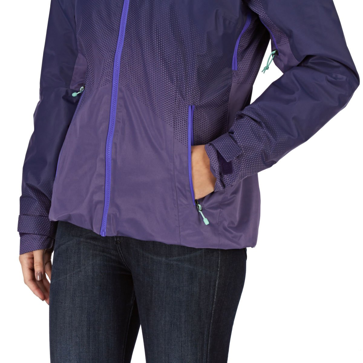 Amazon.com  The North Face Women s Fuseform Dot Matrix Rain Jacket  Sports    Outdoors 4fe34fc97