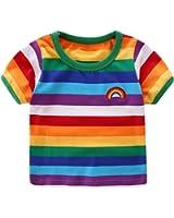 LittleSpring Little Boys' T-Shirt Rainbow