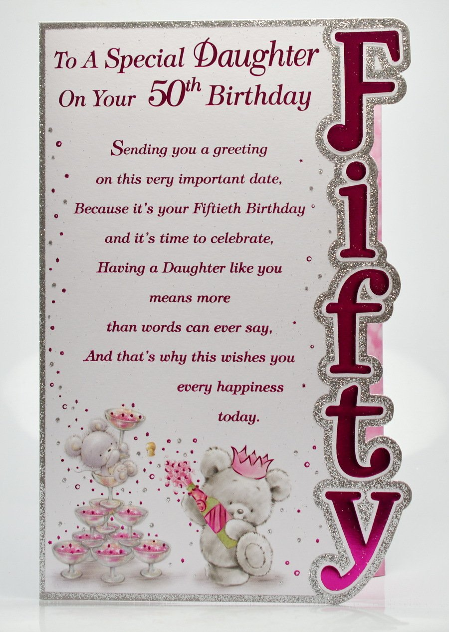 Special Daughter 50th Birthday Amazoncouk Kitchen Home – Words for a 50th Birthday Card