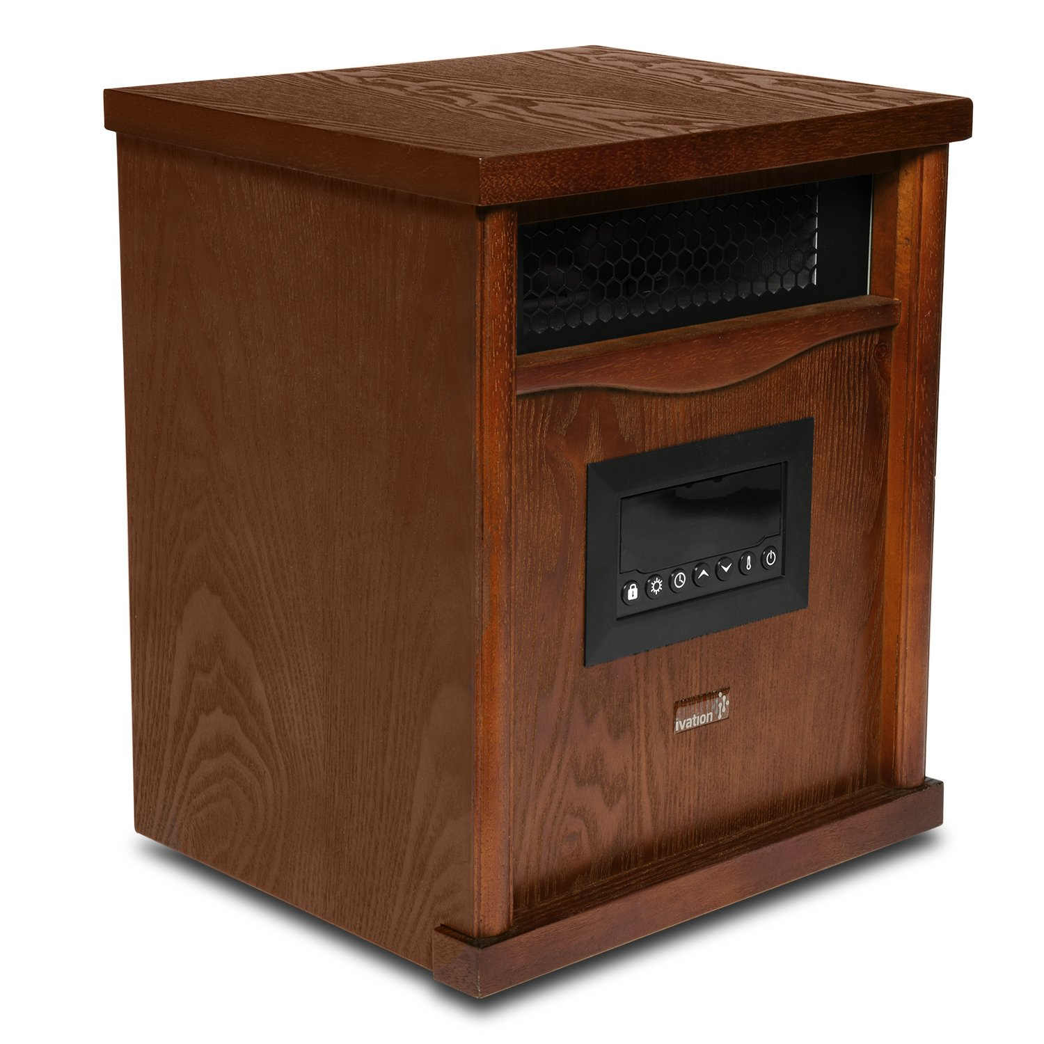 Ivation Portable Electric Space Heater, 1500-Watt 6-Element Infrared Quartz Mini Heater With Digital Thermostat, Remote Control, Timer & Filter by Ivation (Image #2)