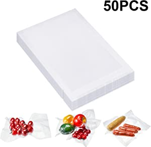 Outus 4 x 6 Inch Vacuum Heat-Seal Bags Vacuum Sealer Bags Pre-Cut Seal Bag for Food Preservation (50 Pieces)