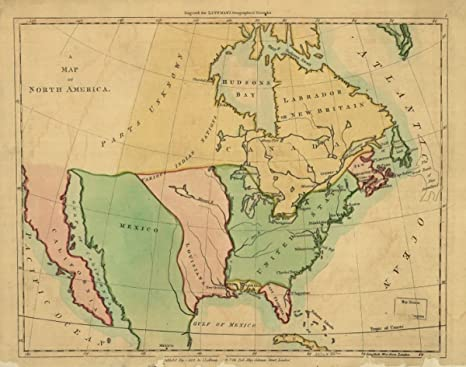 Map Of The United States In 1803.Amazon Com 1803 Map Of North America A Of North Ameri Outline Of