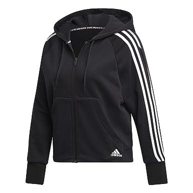adidas W Mh 3s FZ HD Sweatshirt, Mujer