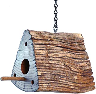 product image for Modern Artisans American Chestnut Split-Rail Fence Hanging Birdhouse