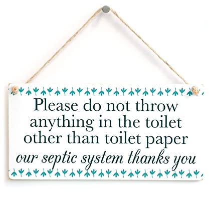 Amazon.com: Please do not throw anything in the toilet other ...