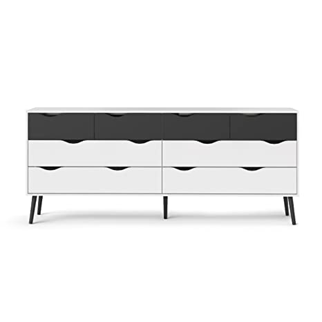 Amazon.com: Tvilum 7545549 gm Diana 8 cajón Dresser, color ...