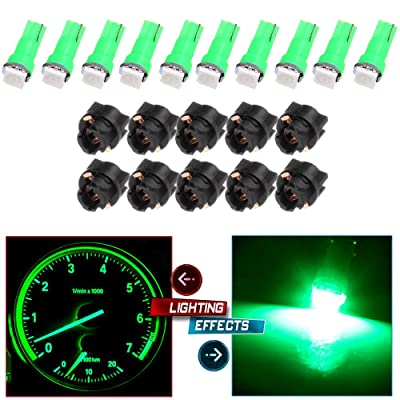 cciyu 20X T5 Green Led 1-5050 SMD Dashboard Dash Gauge Instrument Panel Gauge Cluster Light: Automotive